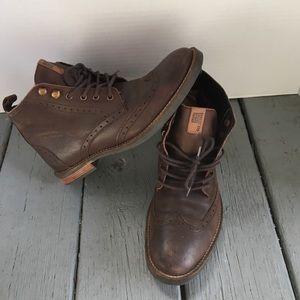 Ben Sherman men's wingtip chukka boots brown 7.5